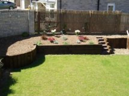 Use of Railway Sleepers in a garden